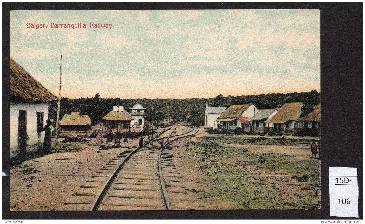 Colombia Railway / Railroad Ferrocarril De Barranquilla - Salgar - Tracks, No Train, Possibly  Station / Gare / Estacion - Colombia