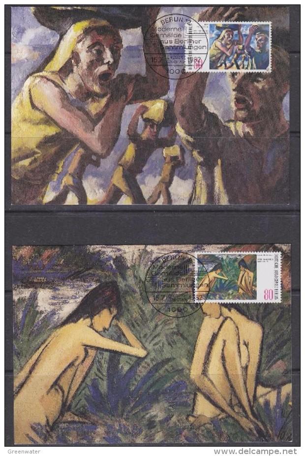 Berlin 1982 Moderne Gemälde 2v  2 Maxicards (30848) - Maximum Kaarten