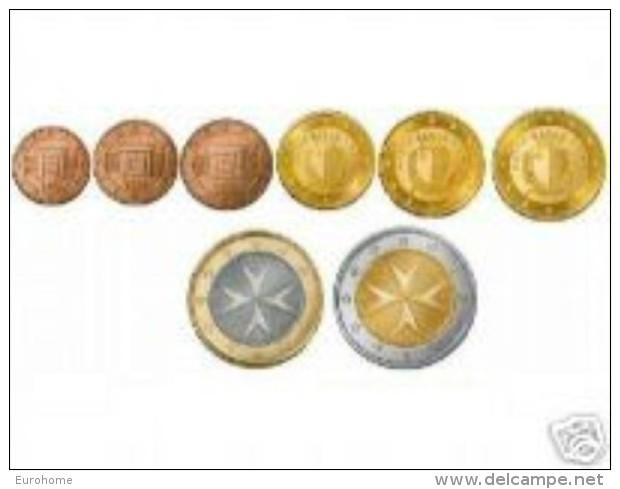 Malta  2008     Set Van 1ct Tot 2 Euro (8 Munten)     UNC Uit De Rol  UNC Du Rouleaux - Malta