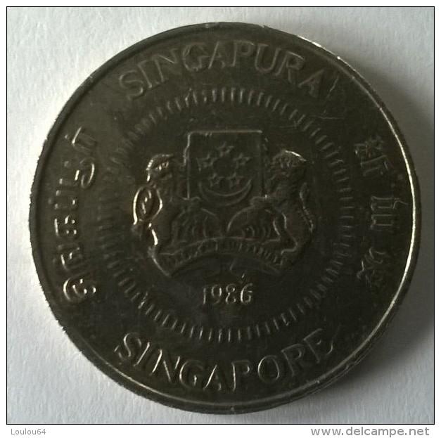 Monnaie - Singapour - 50 Cents 1986 - Superbe - - Singapour