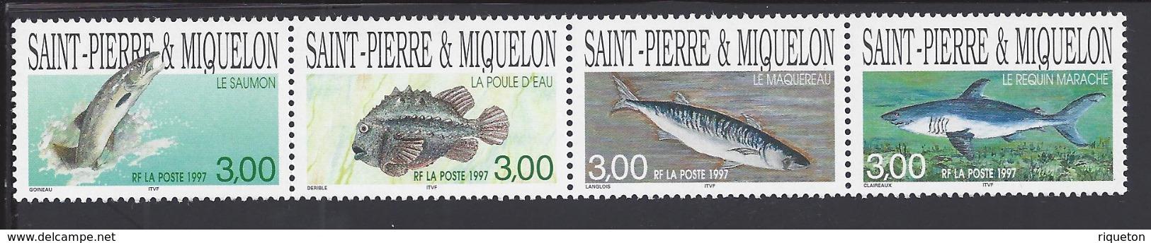 SPM - 1997 -  N° 646 à 649 - SE TENANT - XX - MNH - TB - - Neufs