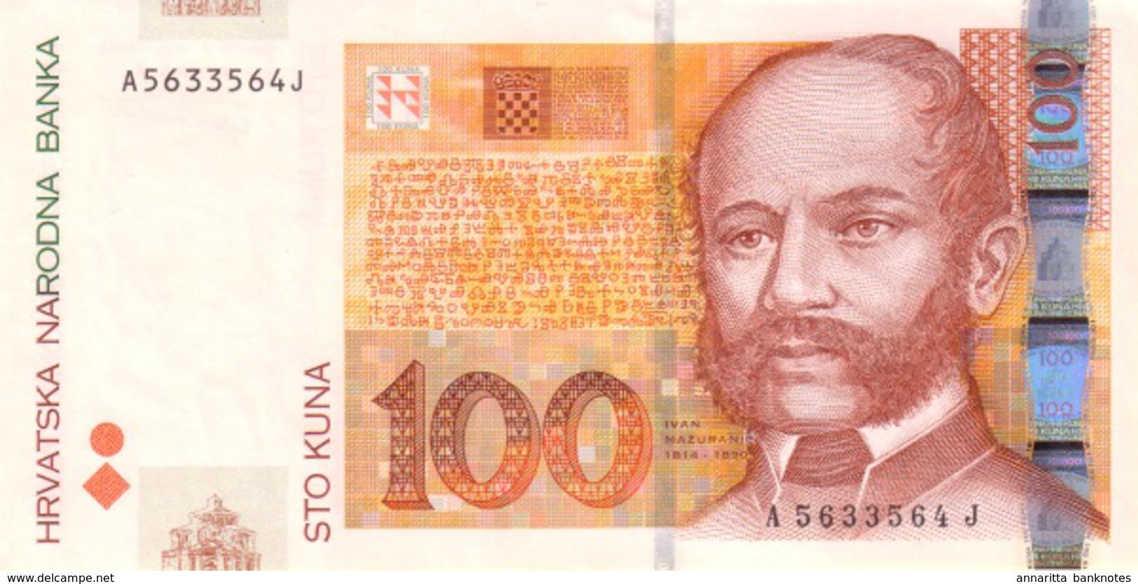 CROATIA 100 KUNA 2002 P-41a UNC [ HR505a ] - Croatia