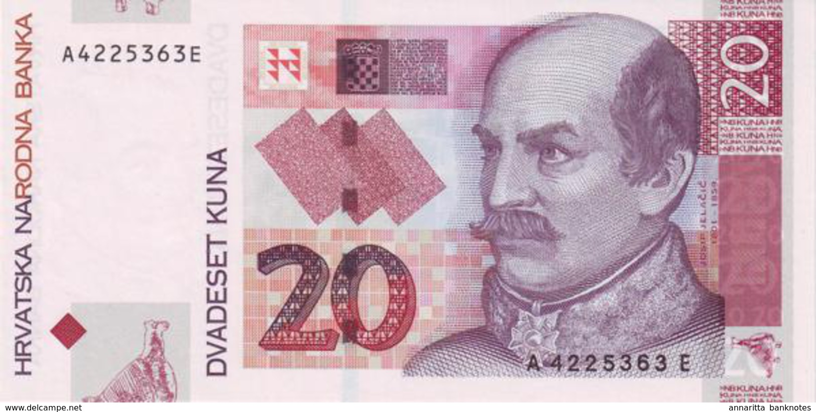 CROATIA 20 KUNA 2001 P-39 UNC [ HR503a ] - Croatia