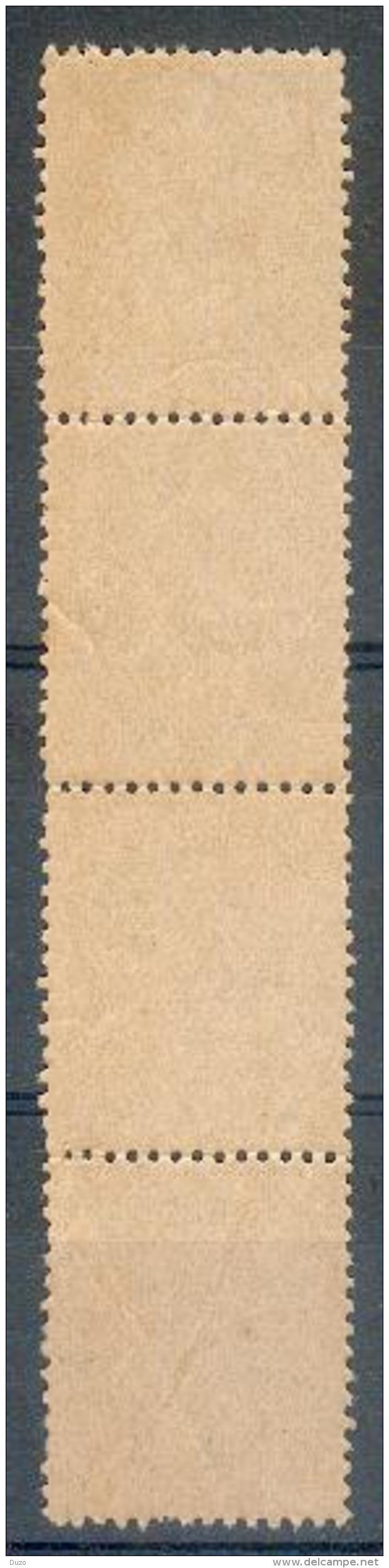 France - 1902 - Type Blanc ( Bande De 4 Verticale Type IA ) 1c. Gris- Y&T N° 107 ** Neuf ( Sans Charnière ) - 1900-29 Blanc