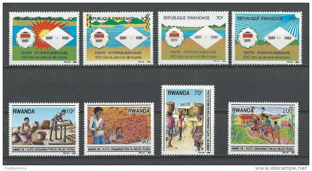 Rwanda:  1347/ 1350 + 1352/ 1355 ** - Rwanda