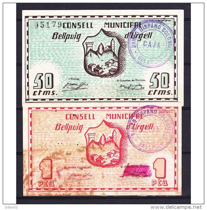 LRDBYMA6208-LBTBBIMGC0236-B.BILLETES DE LERIDA. LA GUERRA CIVIL. 15CTMS. AYUNTAMIENTO DE BELLPUIG - [ 2] 1931-1936 : República