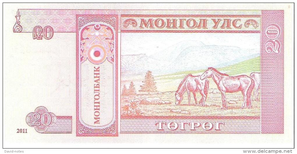 Mongolia - Pick 63f - 20 Tugrik 2011 - Unc - Mongolia