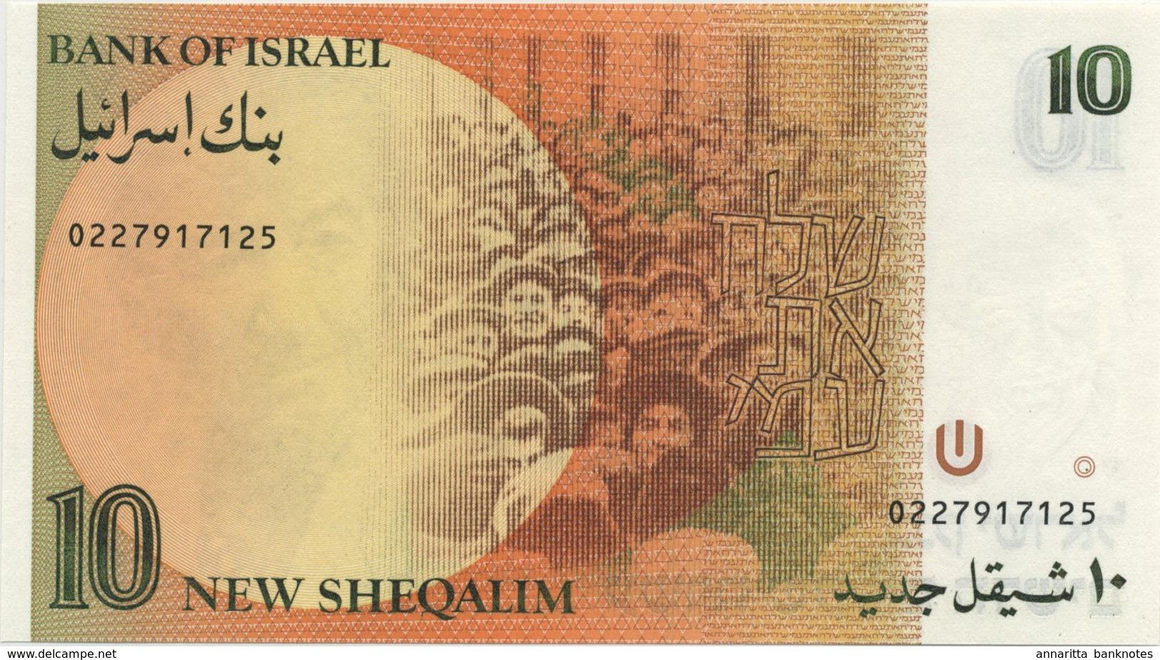ISRAEL 10 NEW SHEQALIM 1987 P-53b UNC [IL431b] - Israël