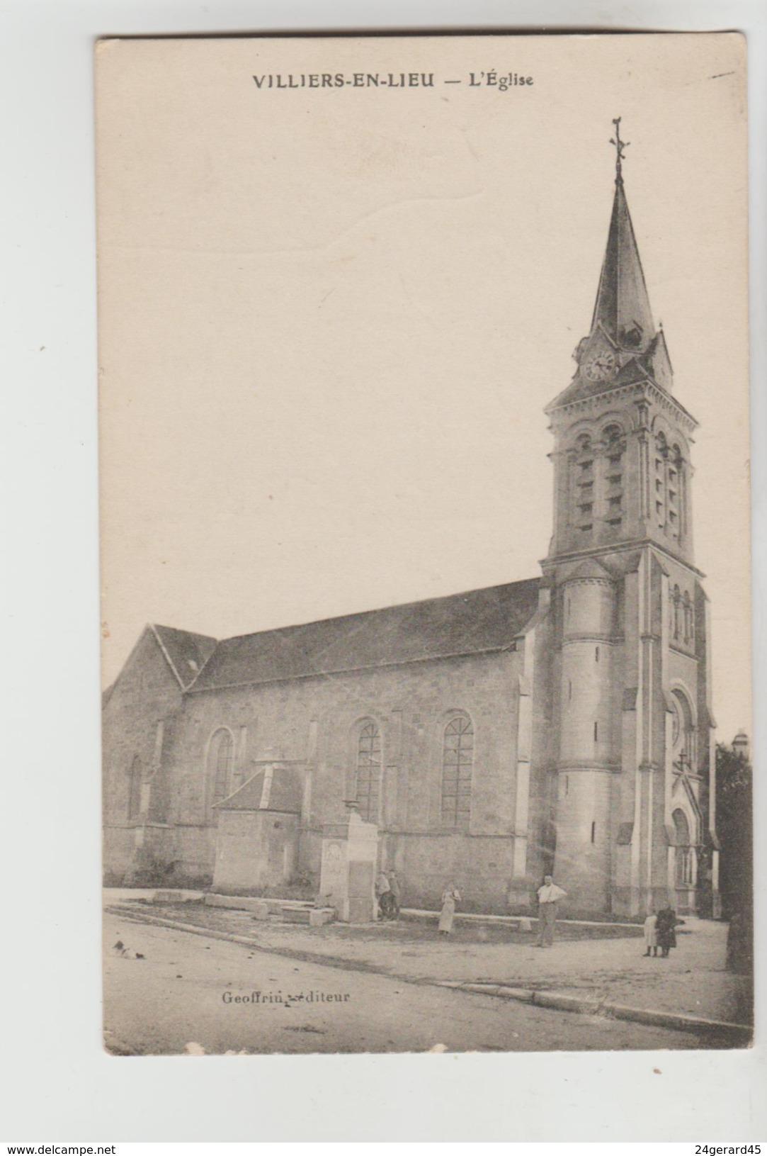 CPA VILLIERS EN LIEU (Haute Marne) - L'Eglise - Frankreich