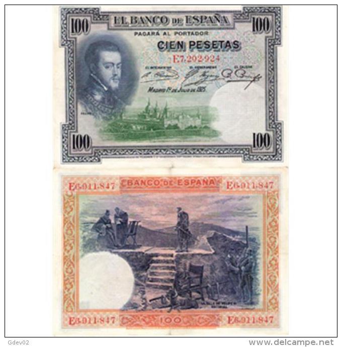 ESBYMA6300-LFTBBI355.BILLETES DE ESPAÑA. 100 PESETAS Con Serie 1925. ALFONSO Xlll - [ 1] …-1931 : Primeros Billetes (Banco De España)