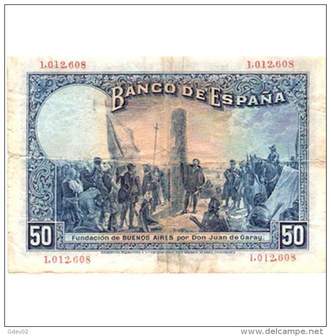 ESBYMA6303-LFTBBI366.BILLETES DE ESPAÑA. 50 PESETAS CON Serie 1925. ALFONSO Xlll - [ 1] …-1931 : Primeros Billetes (Banco De España)