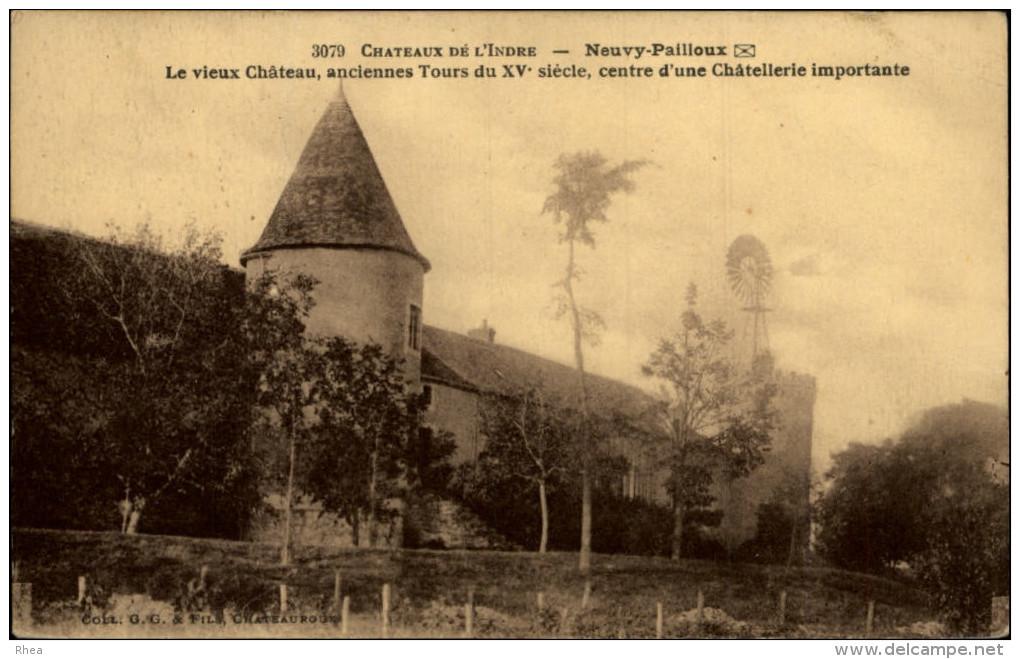EOLIENNES - NEUVY-PAILLOUX - Indre - Châteaux D'eau & éoliennes