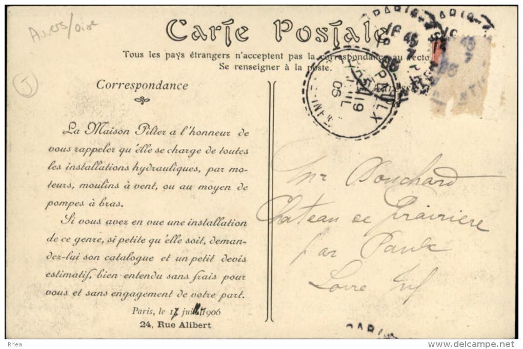 EOLIENNES - Butry  AUVERS-SUR-OISE - Verso Intéressant - Châteaux D'eau & éoliennes