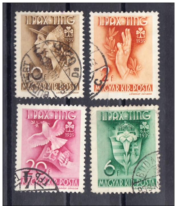 HONGRIE 1939. YVERT Nº 538/542. OBLITÉRÉS. SES323GRANDE - Hungría