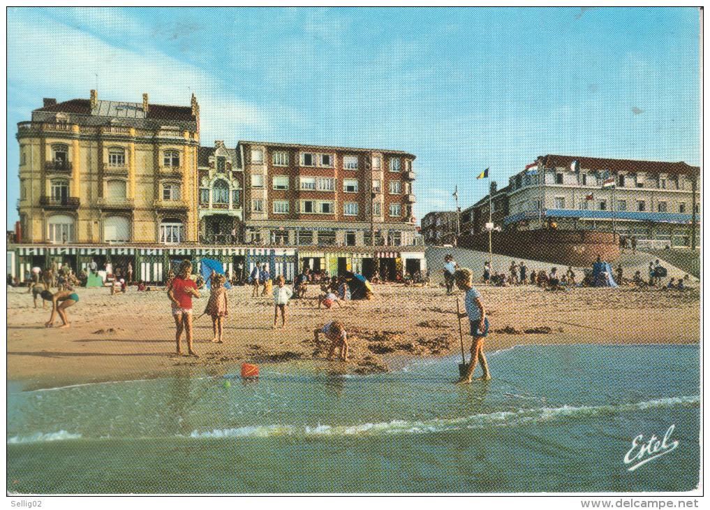 59A058 CPSM GF 59 - BRAY DUNES  LA PLAGE ET LE FRONT DE MER    1974 - Bray-Dunes