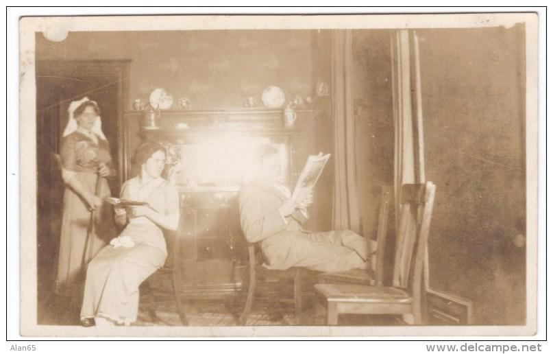 Wedding Couple Romance Ceremony Reception 'Honeymoon', Kerkhoven Minnesota C1910s Vintage Lot Of 6 Photographs - Anonymous Persons