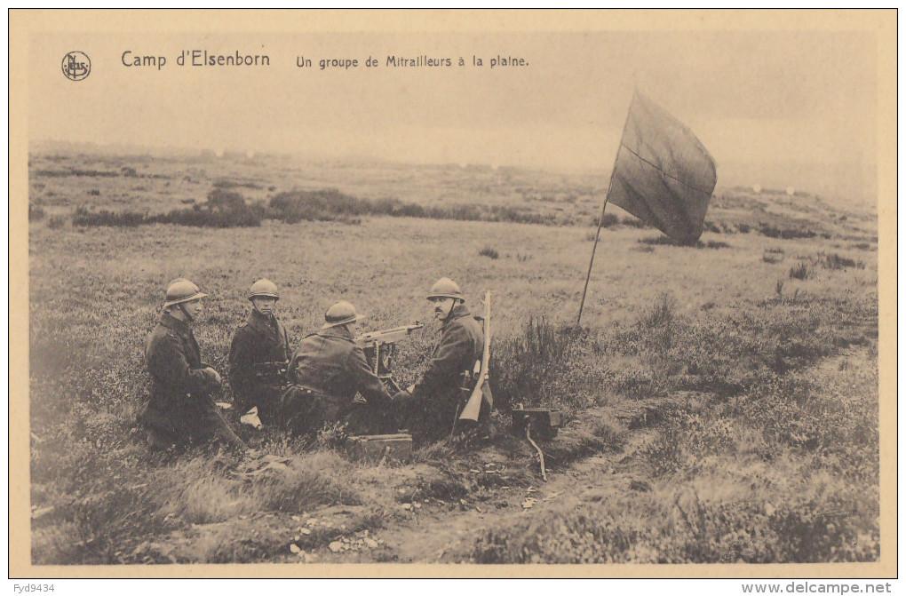 CPA - Le Camp D´Elsenborn - Un Groupe De Mitrailleurs à La Plaine - Elsenborn (camp)