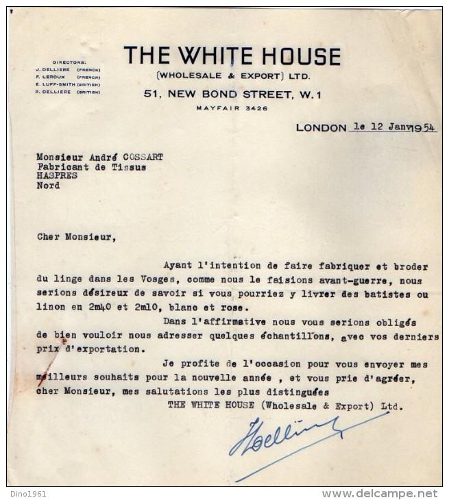 VP5067 - Lot De Documents - The White House - Wholesale & Export - LONDON ( LONDRES ) - Royaume-Uni