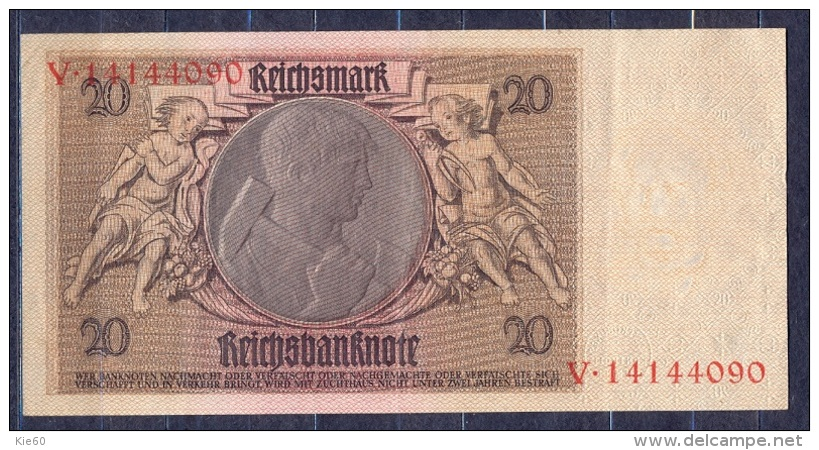 Germany - 1929   - 20  Mark  X/V .P-181a ...R 174a,, VF+ - 1933-1945: Drittes Reich
