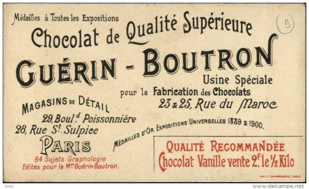 ECRITURE - GRAPHOLOGIE - Chromo Chocolat Guérin Boutron - Guérin-Boutron