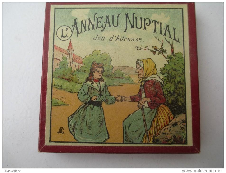 """Jeu Ancien/""""Anneau Nuptial """"/Jeu De Société /anneau Et Solution Du Jeu / Vers 1880-1900 JE148 - Casse-têtes"""
