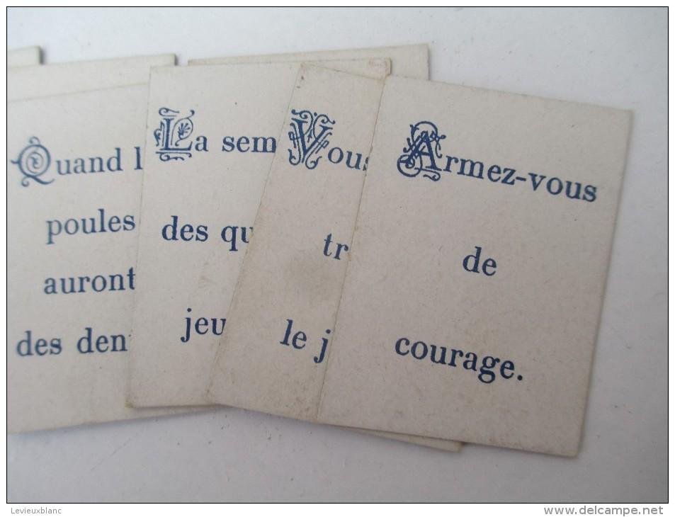 """Jeu Ancien/""""Demandes Et Réponses""""/Petite Boite:Provenance? /J F J ? /Paris / Avec Solution/Vers 1880-1900    JE176 - Autres"""
