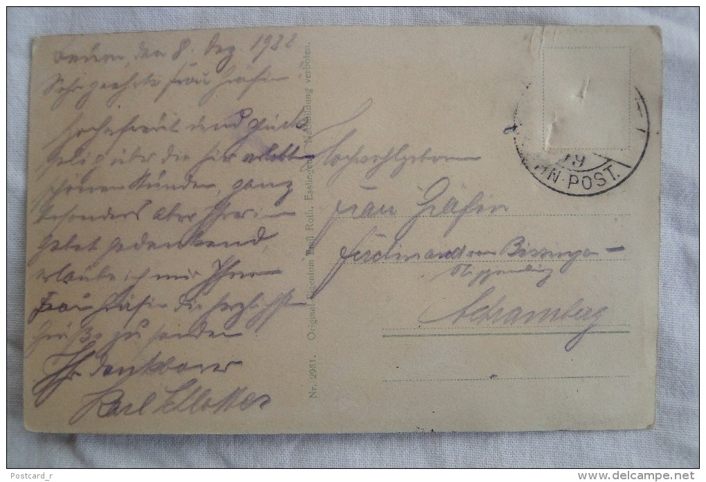 Germany Beuron Württemberg  1922 A 110 - Backnang
