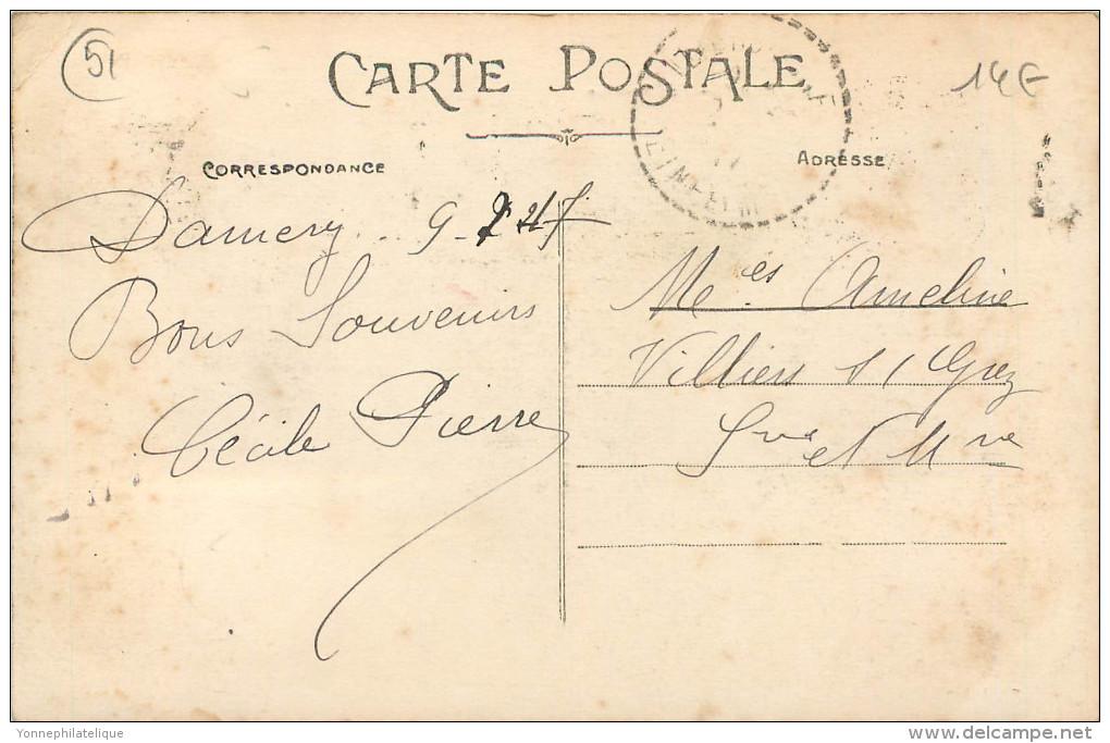 51 - MARNE - Damery - La Chaussée - Café - Hotel De L'avenue - Victor Mainier - France