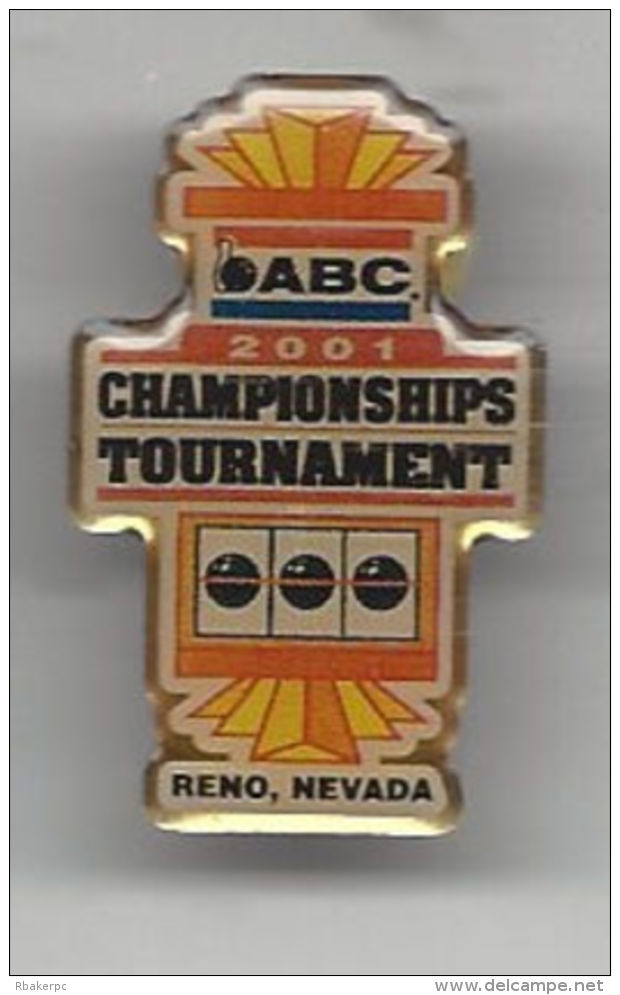 Pin From The ABC National Championships Tournament 2001 In Reno, NV  - USA - Bowling