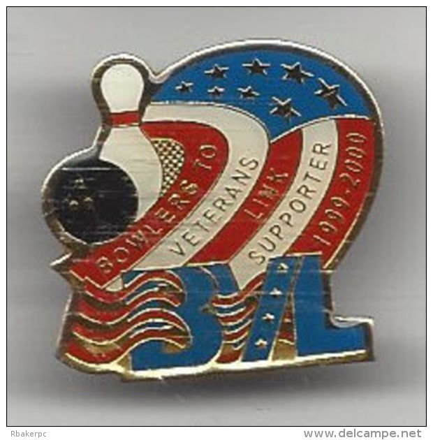 BVL - Bowlers To Veterans Supporter Pin From 1999-2000 - Supporting US Military Veterans - Bowling