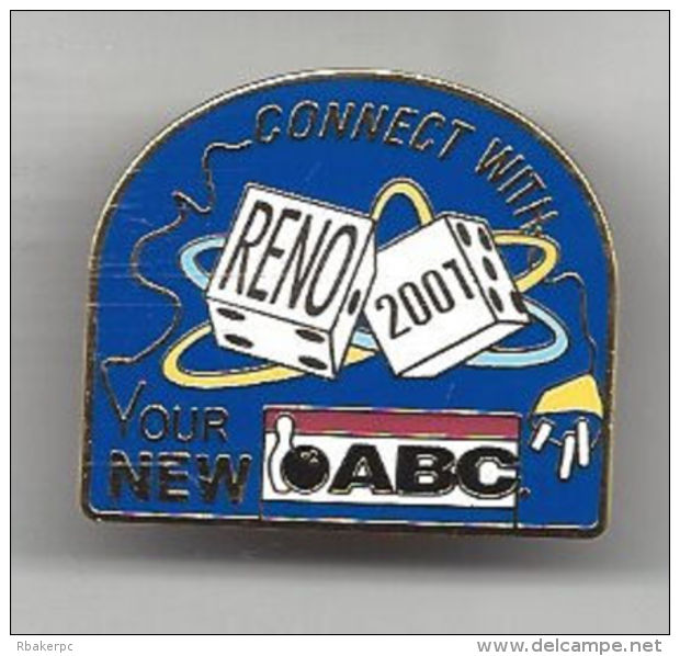 Pin From Reno, NV USA In 2001 - Connect With Your New ABC - American Bowling Congress - Bowling
