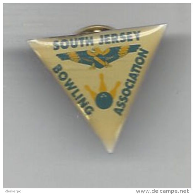 Pin From The South Jersey Bowling Association - Local ABC Association In Southern NJ - USA - Bowling