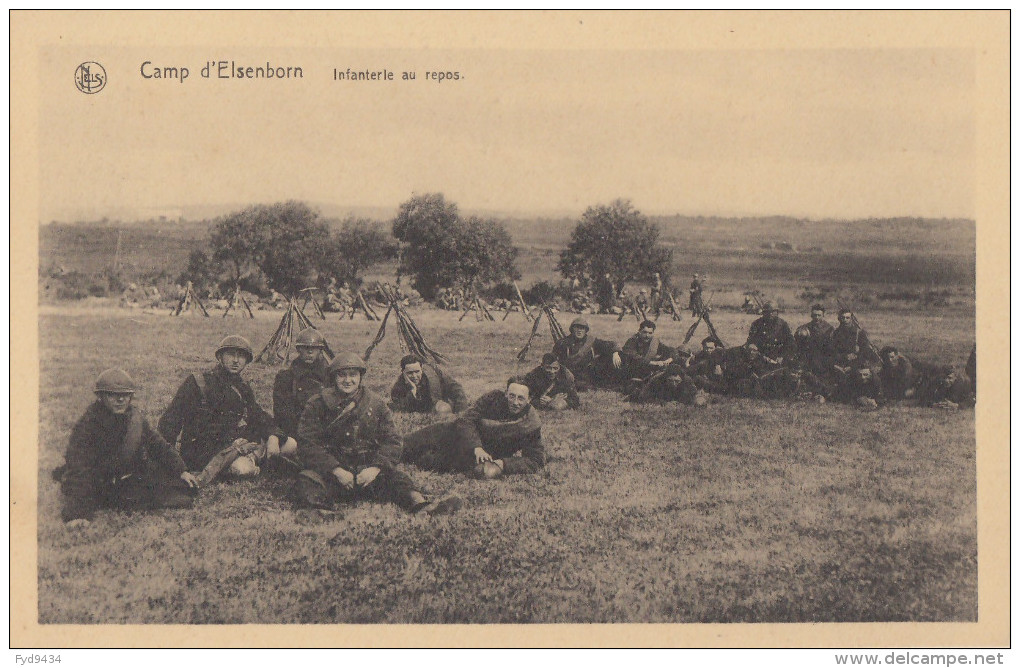 CPA - Le Camp D´Elsenborn - Infanterie Au Repos - Elsenborn (camp)