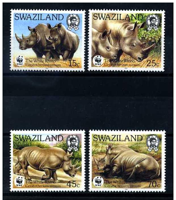 E06962)WWF Swaziland 528/31** Nashorn - Unused Stamps