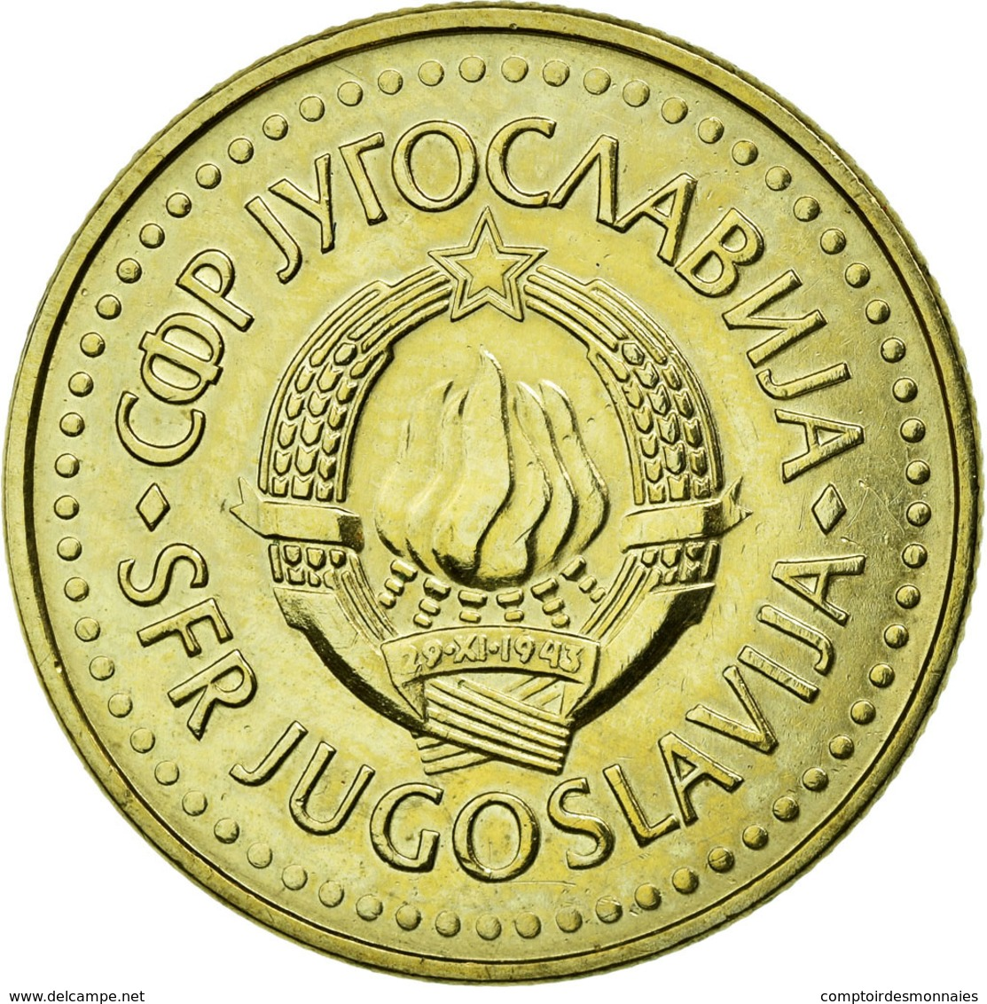 Monnaie, Yougoslavie, 5 Dinara, 1984, TTB, Nickel-brass, KM:88 - Joegoslavië