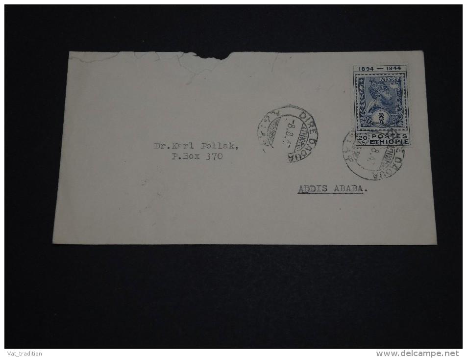 ETHIOPIE - Enveloppe De Dire Dawa Pour Addis Ababa En 1947 , Affranchissement Plaisant - A Voir - L 849 - Etiopia