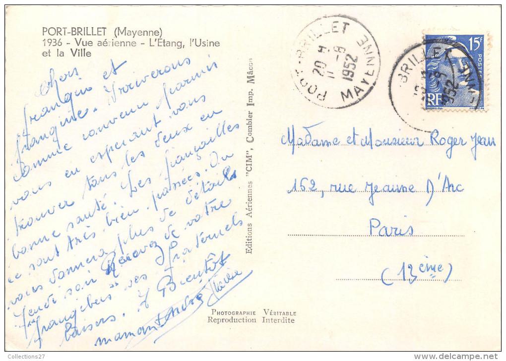 53-PORT-BRILLET- VUE AERIENNE - Francia