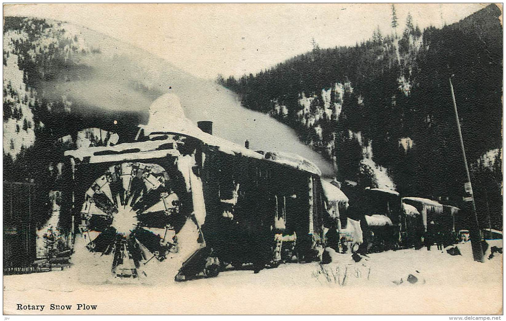 CARTE POSTALE : WASHINGTON . SPOKANE . ROTARY SNOW PLOW . - Spokane