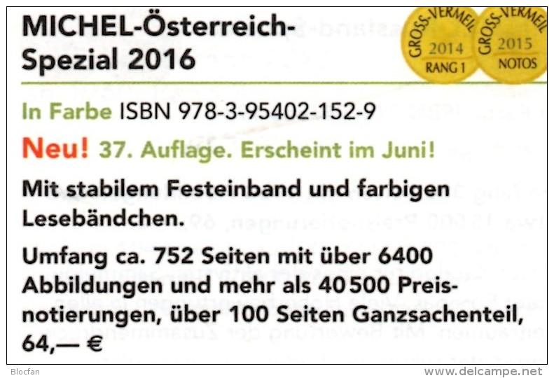 Spezial Katalog 2016 MICHEL Briefmarken Österreich Neu 64€ Bosnien Lombardei Venetien Special Catalogue Stamp Of Austria - Material Und Zubehör