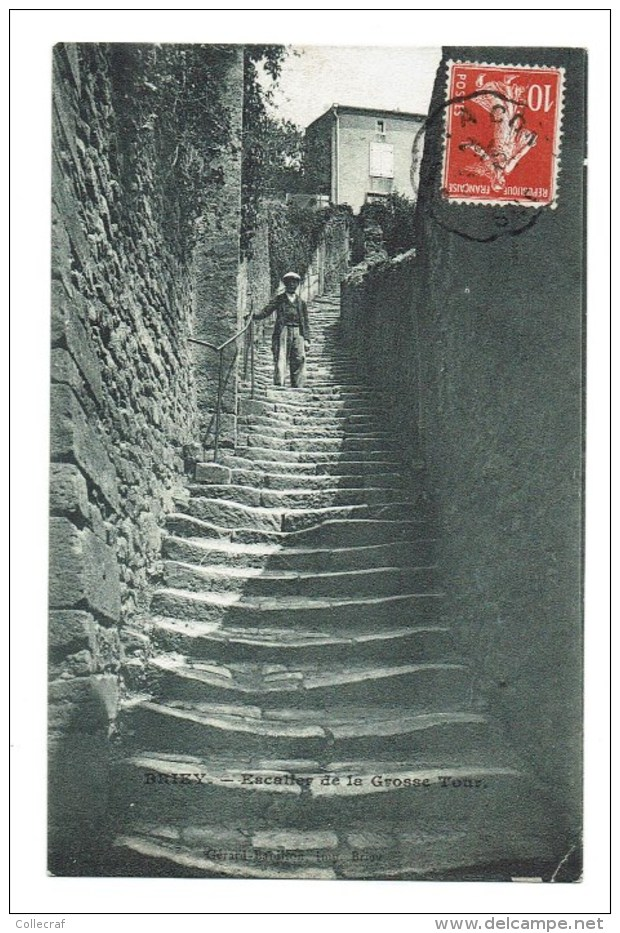 CPA BRIEY Escalier De La Grosse Tour   ANIME - Briey