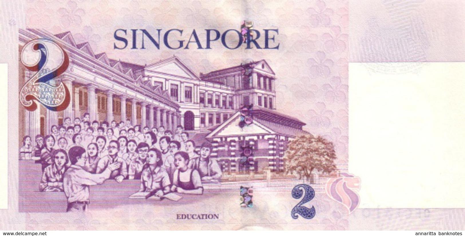 SINGAPORE 2 DOLLARS ND (1999) P-38a UNC  [SG132a] - Singapore