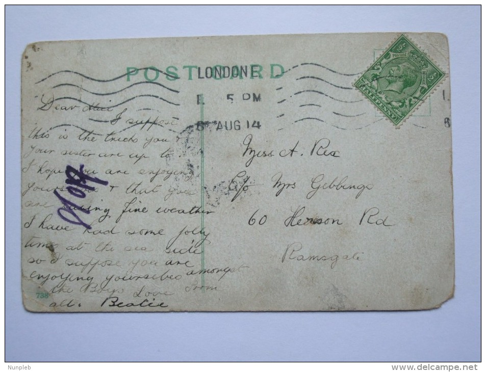 GB POSTCARD UK `MY WORD IF I CATCH YOU IN AN AIRSHIP I'LL HAVE YOUR PROPELLER!` - Humor