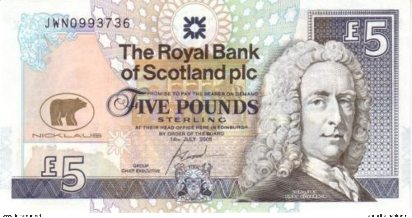 SCOTLAND 5 POUNDS 2005 P-365 UNC COMMEMORATIVE [ SCO365 ] - [ 3] Scotland
