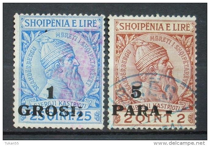 Albanien Lot 1914 Mi.Nr.44,41 Aufdruck Gestempel    (H185) - Albanien