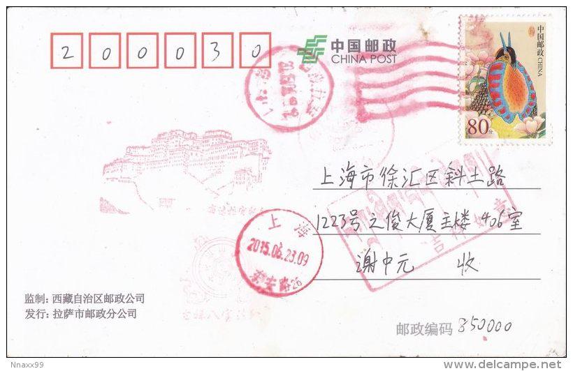 China - UNESCO WHS - Historic Ensemble Of The Potala Palace, Lhasa - Overlook The Potala Palace, 3D Postcard - Tibet