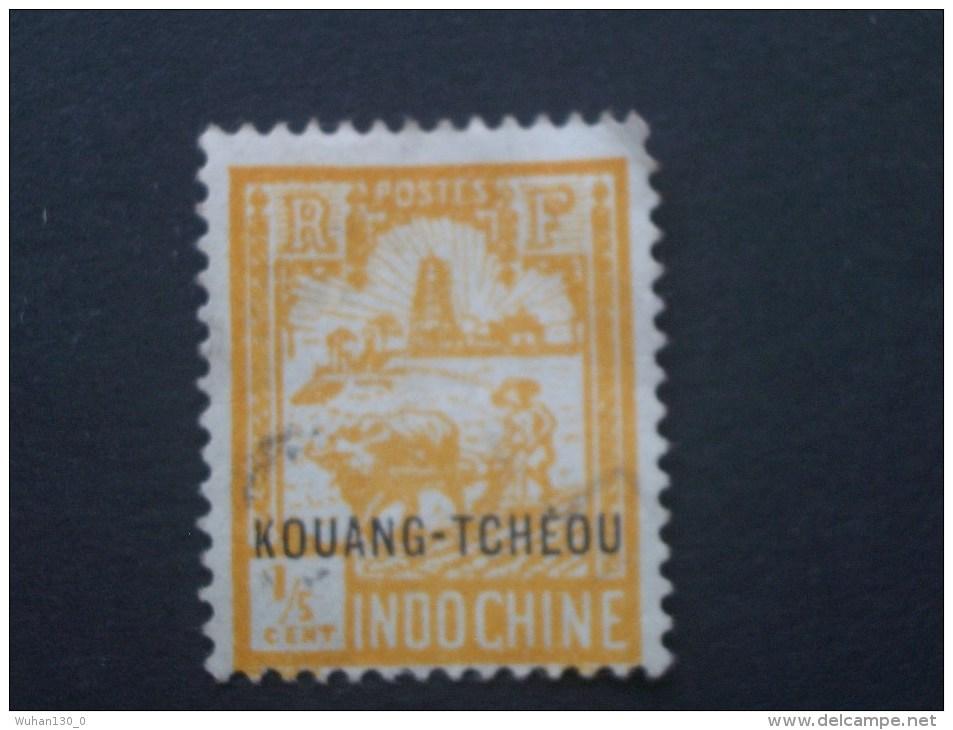 """KOUANG-TCHEOU  Colonie France  *  1927   """"   TP D'Indochine Surchargé  """"   N° 73 Et 74 .       2 Val . - Usati"""