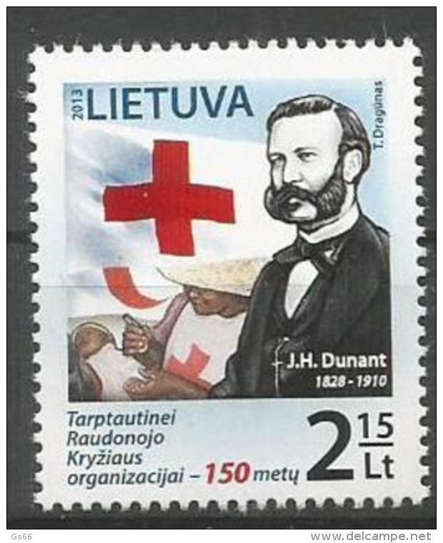 Litauen, 2013, 1134, Rotes Kreuz, Henri Dunant.  MNH ** - Lithuania