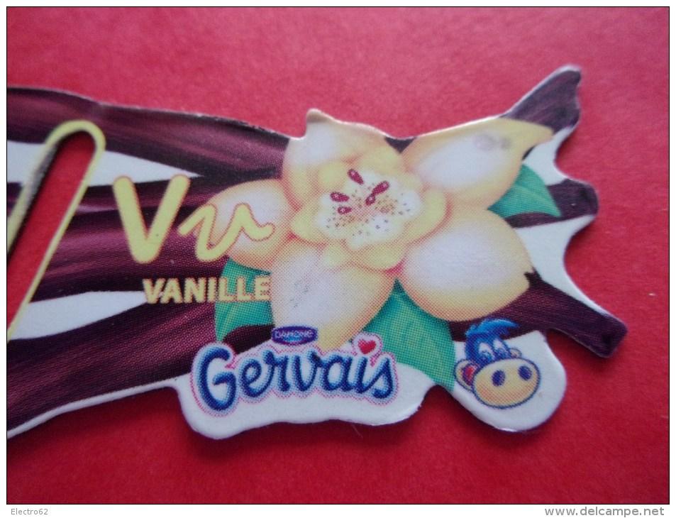 Magnet Danone  Gervais Vanille Lettre V - Letters & Digits