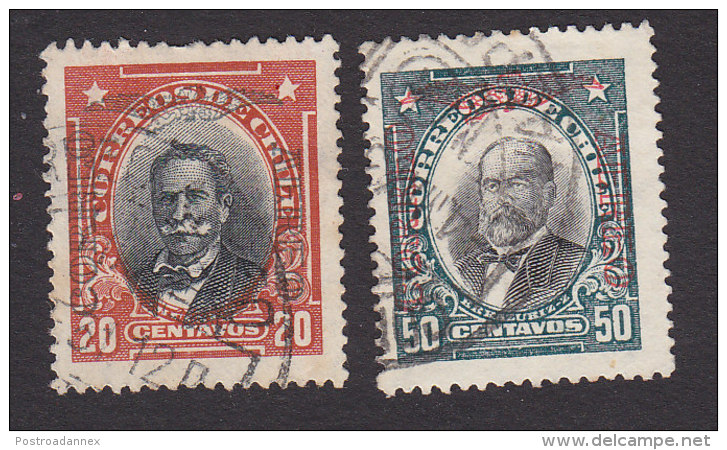 Chile, Scott #C16, C19, Used, Men Of Chile Overprinted, Issued 1928 - Chile