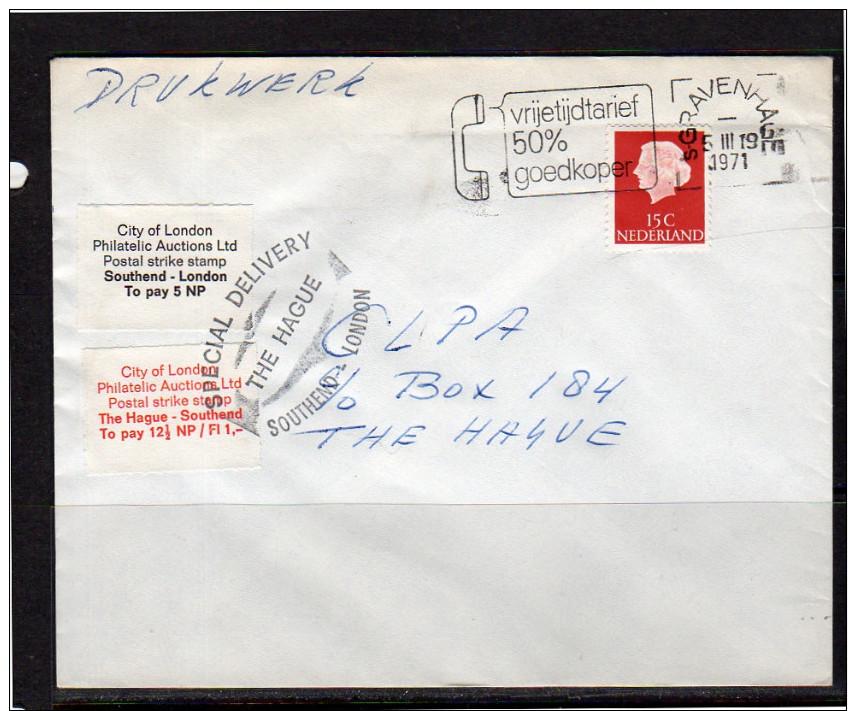 Postal Strike The Hague South End 1971 (av19) - 1949-1980 (Juliana)